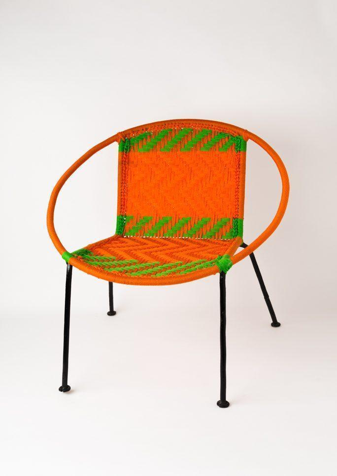 Chaise scoubidou orange