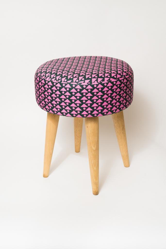 Tabouret Wax rose