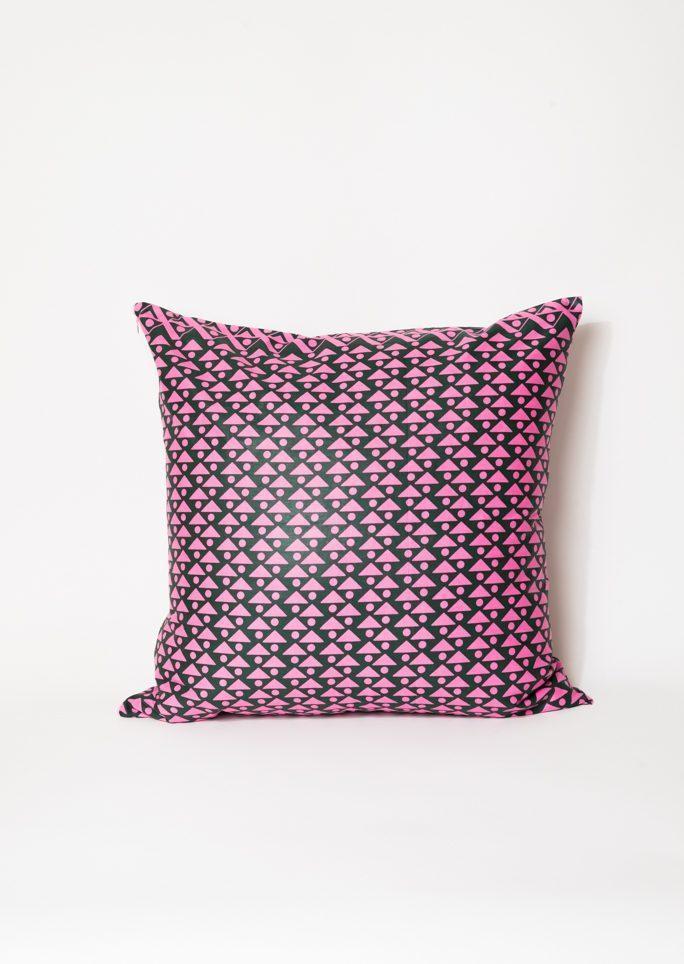 Housse de coussin Wax rose et violette
