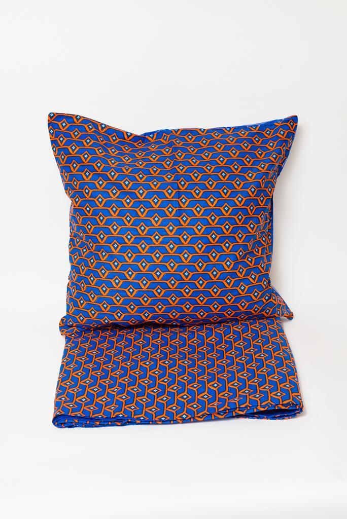 Housse de couette motifs bleus