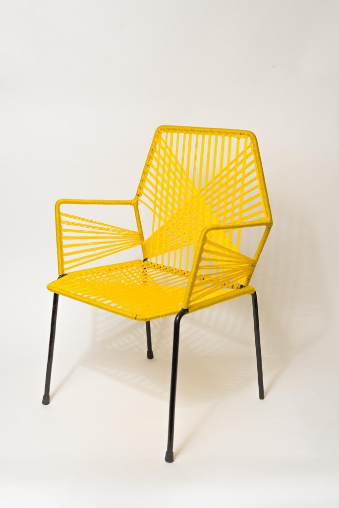Chaise enfant jaune