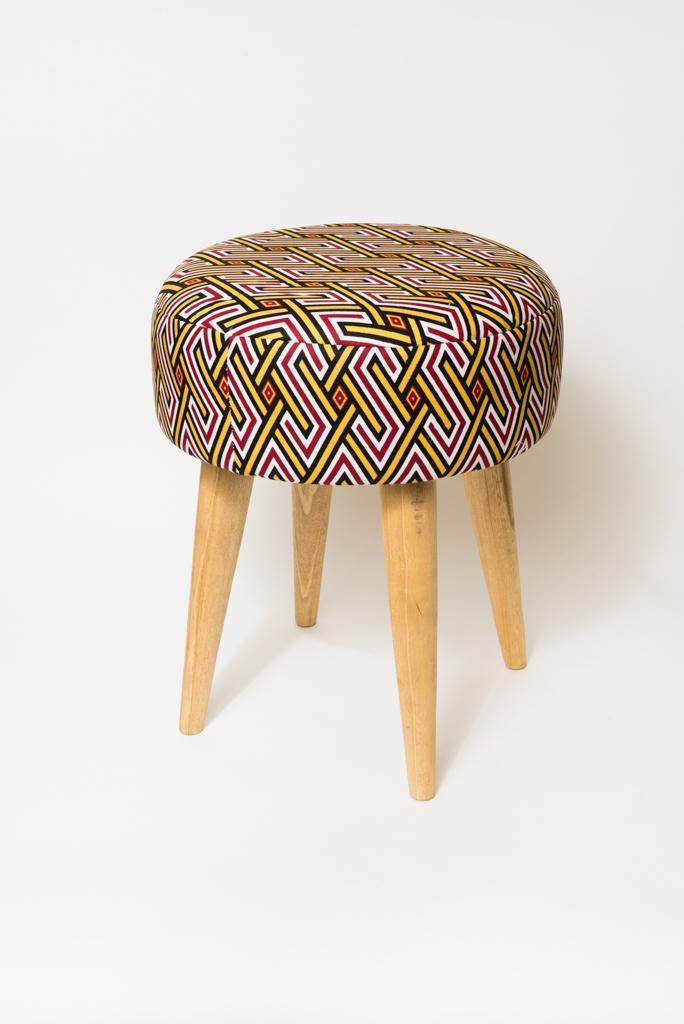 Tabouret Wax motifs
